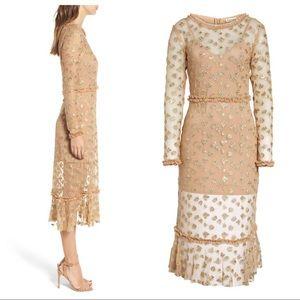 24eb9b6750 For Love And Lemons Dresses - NWT For Love & Lemons Golden Garden Tulle  Dress